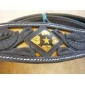black leather western bridle set