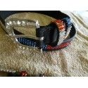 Ladies  dress belt belt red white and blue