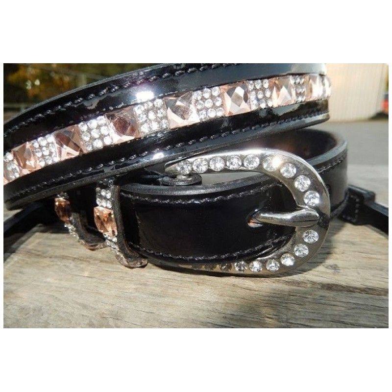 Ladies dress belt  topas crystal and topas brow band