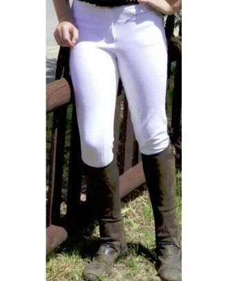 Ladies white show breeches with clarion seat