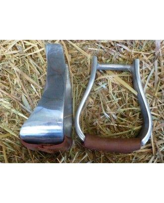 Western Show stirup irons polished aluminum - Stirrup Irons