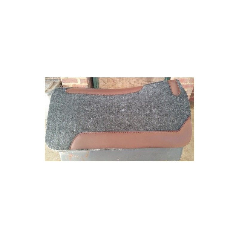 Western saddlepad Grey felt over neoprean core  - Stock and western Saddle Pads