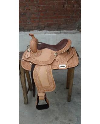 Western show saddle ri260 Crocodile seat show saddle