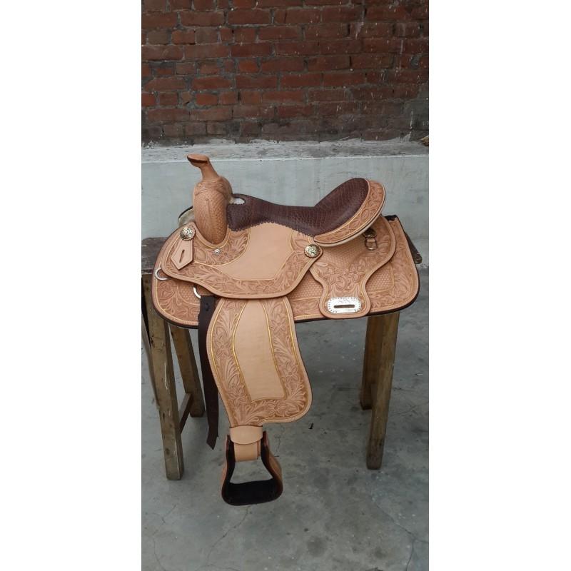 Western show saddle ri260 Crocodile seat show saddle - Western Show