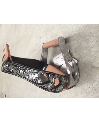 Western Stirrup Irons Hearts