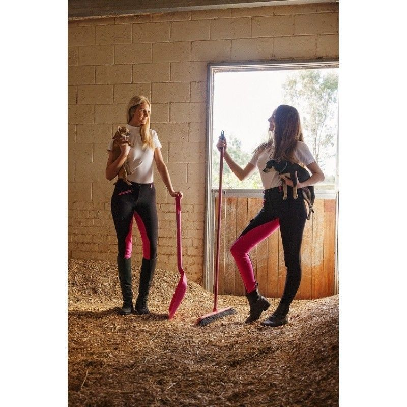 Black with Pink Seat - Jodhpurs and breeches