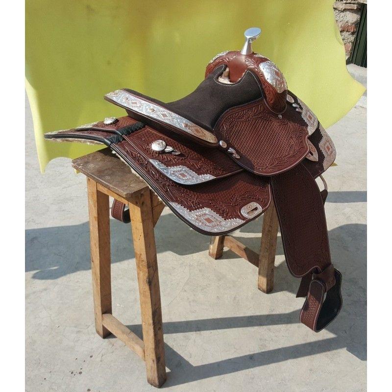 Western show model Santa Cruz 1334 dark brown