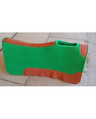 western or fender saddle pad wool felt saddle pad GREEN wear strip on special free postage - Stock and western Saddle Pads
