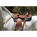 Wade western saddle Padded seat , floral embossing hand  done