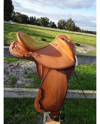 Polocrosse Deluxe 2016 Texas Tea model 7080s - Leather Stock Saddles