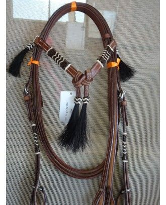 Rawhide WESTERN  Bridle MODEL 080 brown leather