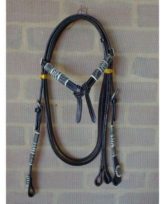 Rawhide WESTERN  Bridle MODEL 046 black leather