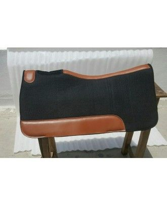 Neoprene black Sport saddle pad core wool felt outer 30*32 FREE POSTAGE - Stock and western Saddle Pads