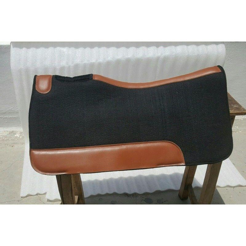 Neoprene black  Sport saddle pad core wool felt outer  30*32 FREE POSTAGE