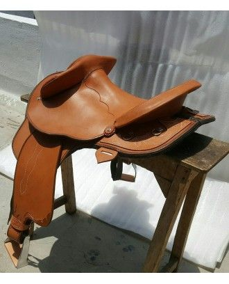 Texas Tea Team CAMPDRAFT penning saddle 8075 FENDER STOCK SADDLE - Leather Stock Saddles