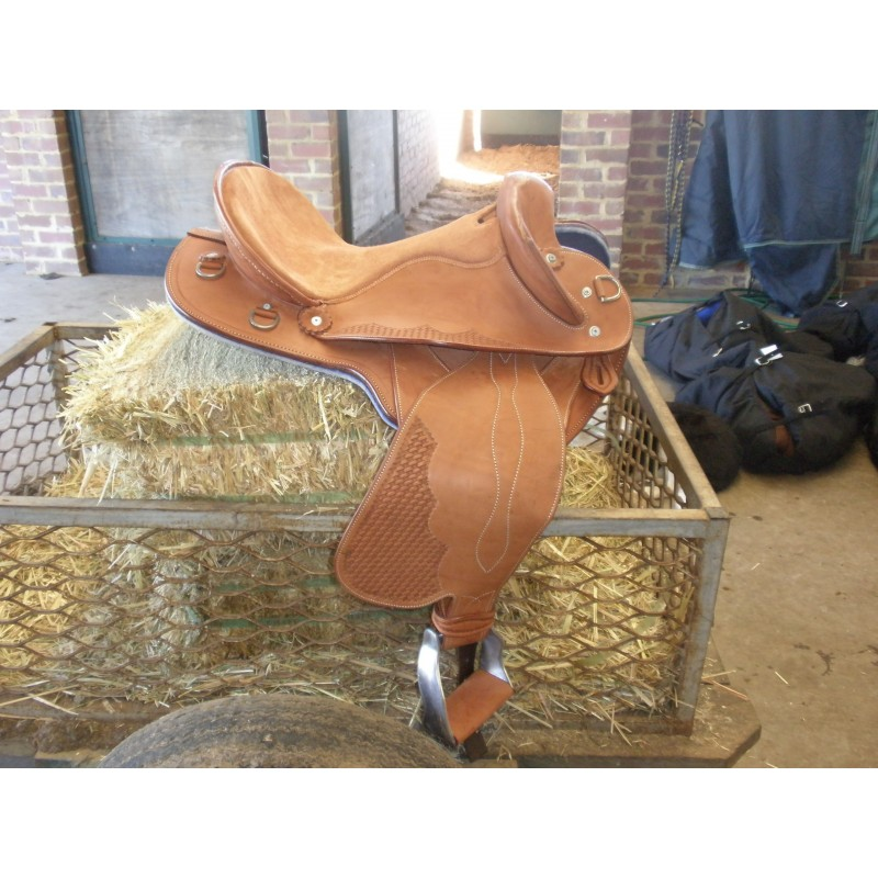 Team Penner face leather - Leather Stock Saddles