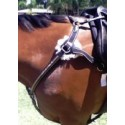 5 point breastplate with running rings CRYSTAL  sides